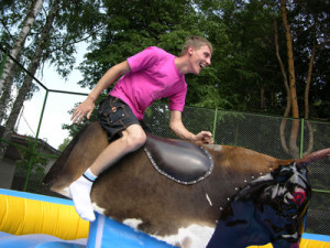 boy on bull simulator